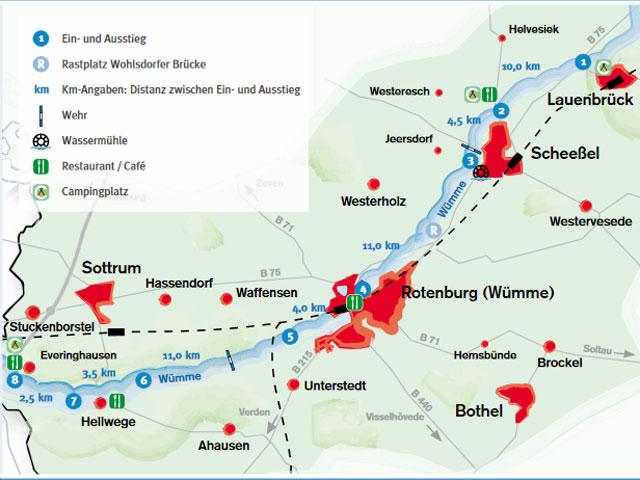 Wasserwandern auf der Wümme - Quelle: Touristikverband Landkreis Rotenburg (Wümme) e.V.